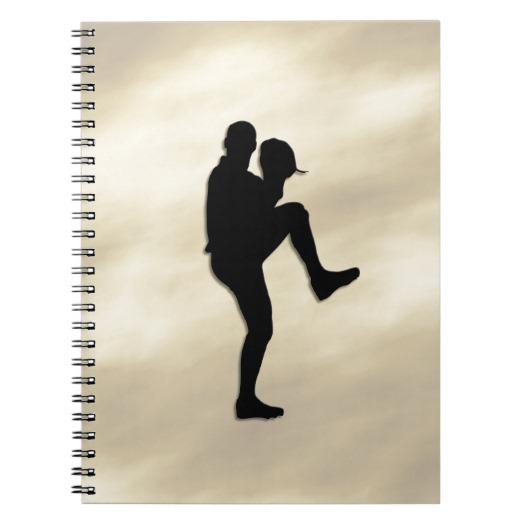 Baseball Player Pitcher windup Notebook