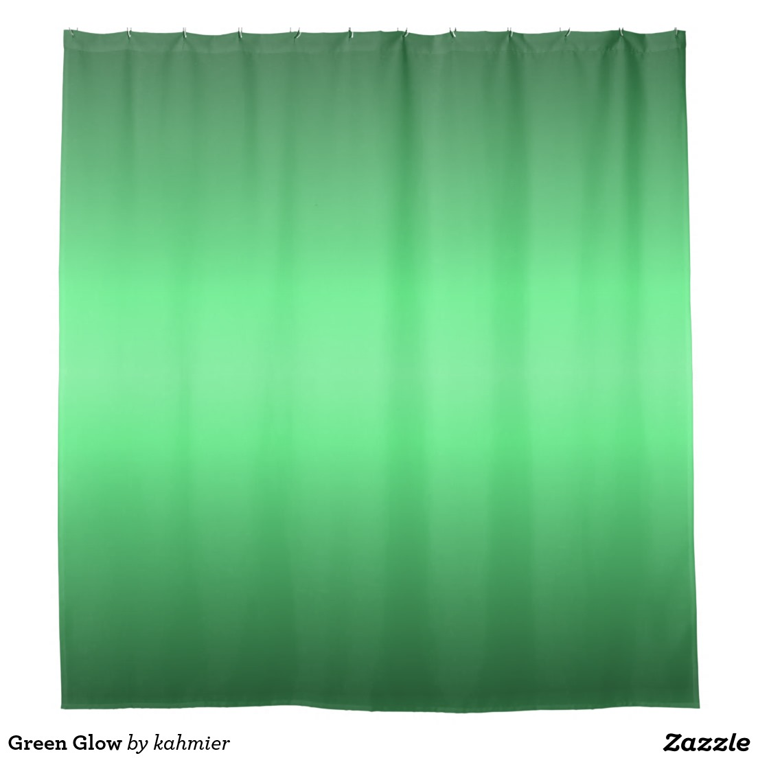 Green Glow Shower Curtain
