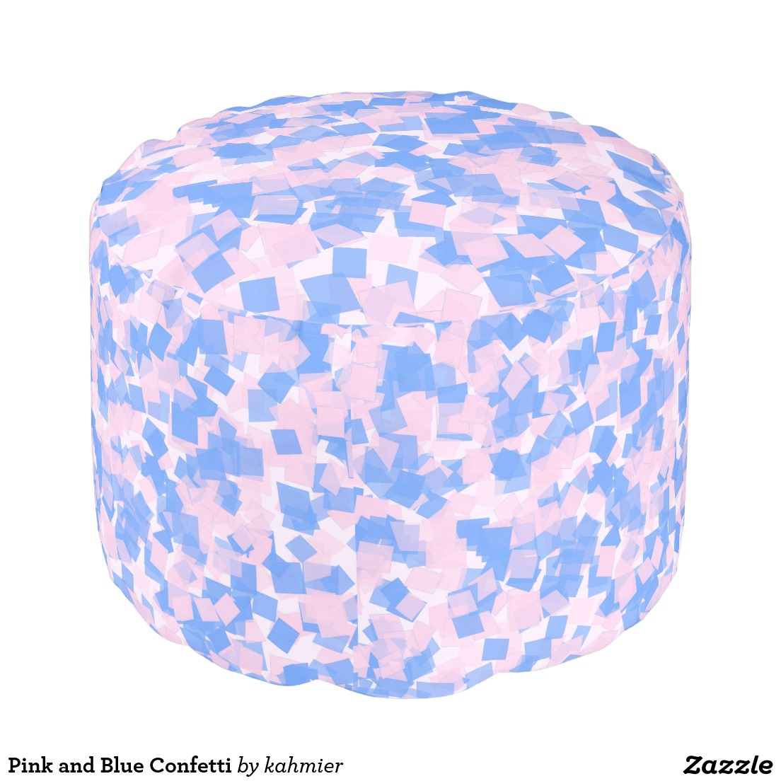 Pink and Blue Confetti Pouf