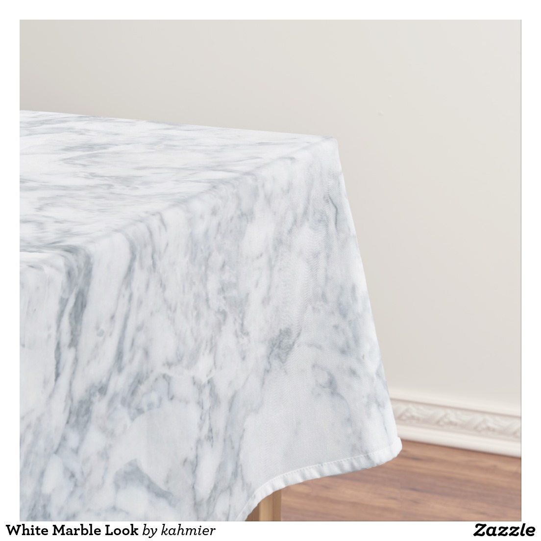White Marble Look Tablecloth