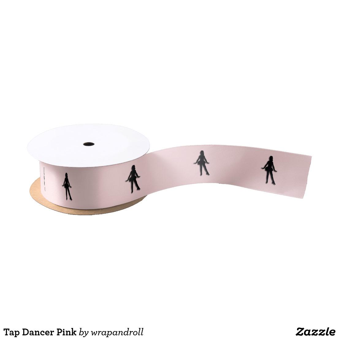 Tap Dancer Pink Satin Ribbon