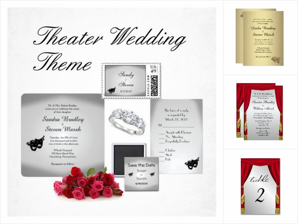 Theater Wedding Invitation Suite