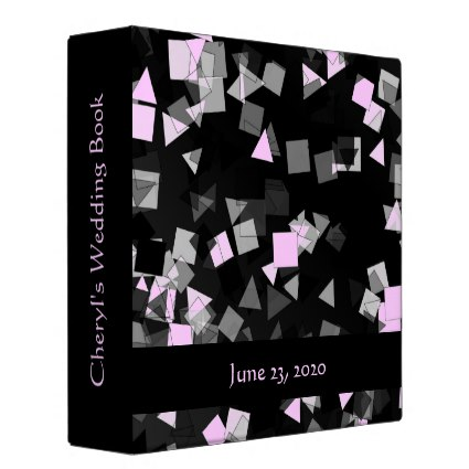 Confetti Pink Custom Binder