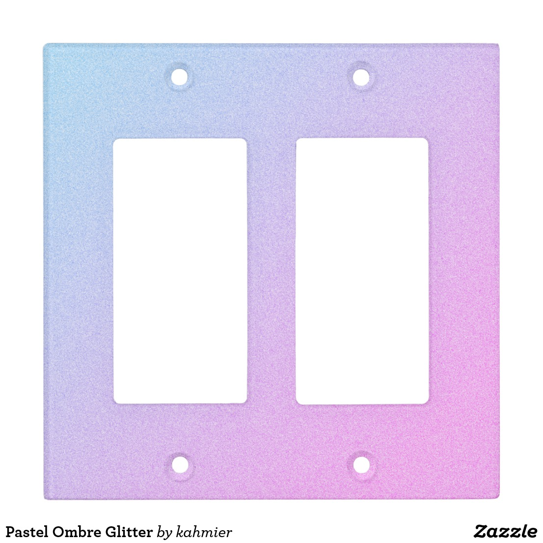 Pastel Ombre Glitter Light Switch Cover