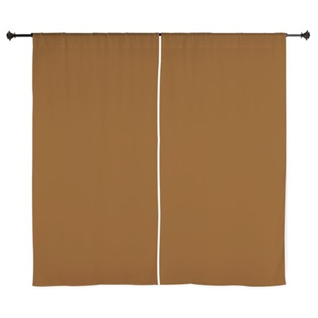 Solid Chocolate Brown Curtains