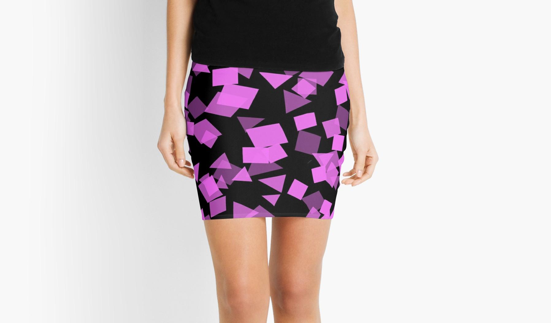 Pink Confetti on Black Stunning by Leatherwood Design a/k/a kahmier