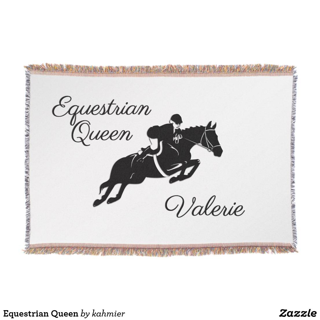 Equestrian Queen Throw Blanket