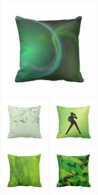 Green Pillow Collection / Quality Design Pillows