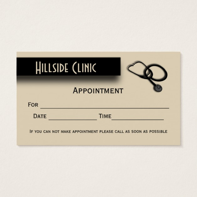 Veterinary clinic w appointment area on back business card home veterinary clinic w appointment area on back business card colourmoves