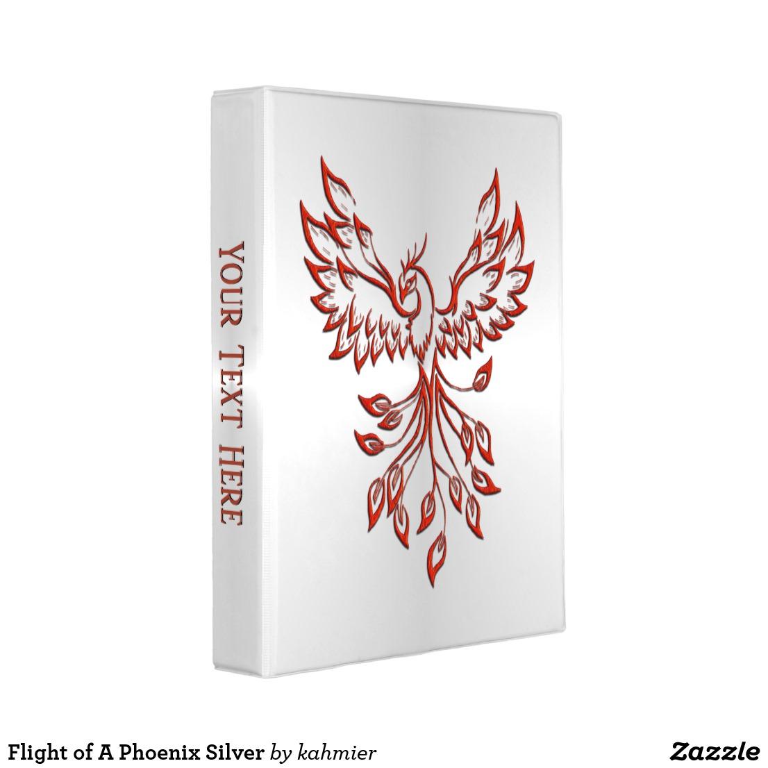 Flight of A Phoenix Silver Mini Binder