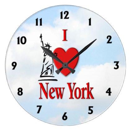 I Lover NY Large Clock