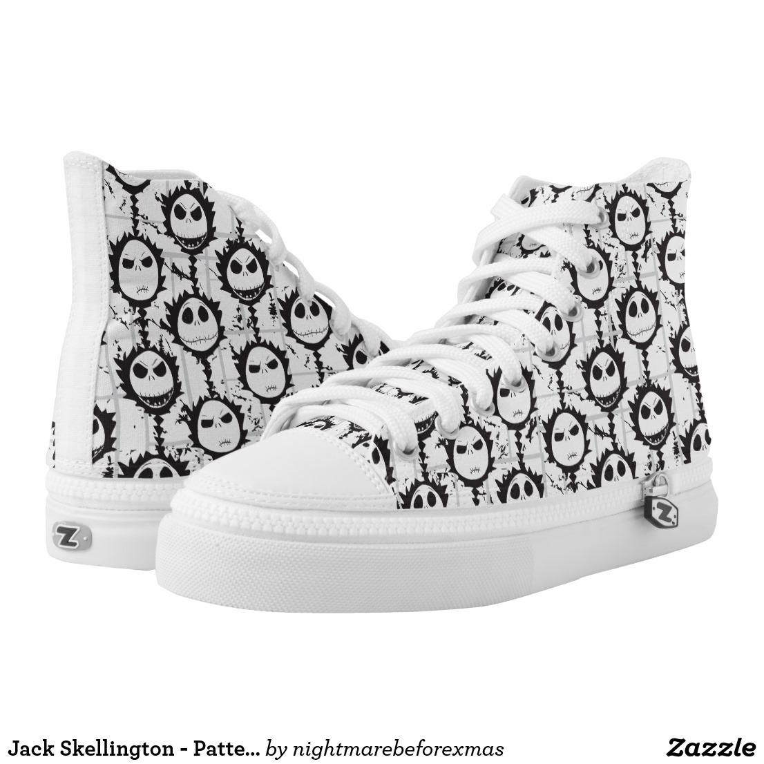 Jack Skellington - Pattern High-Top Sneakers