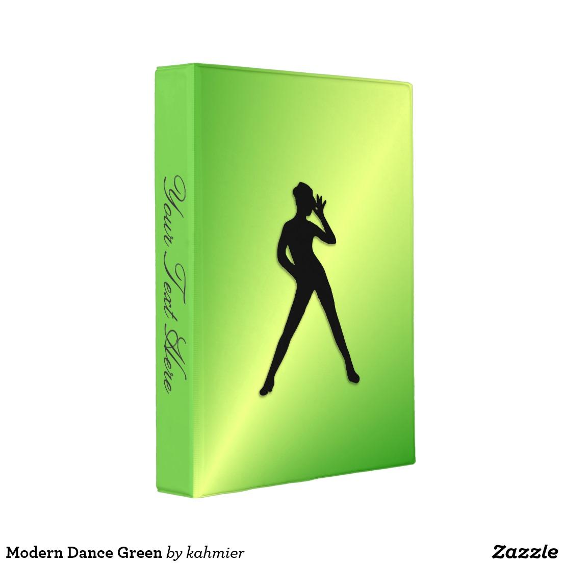 Modern Dance Green Mini Binder