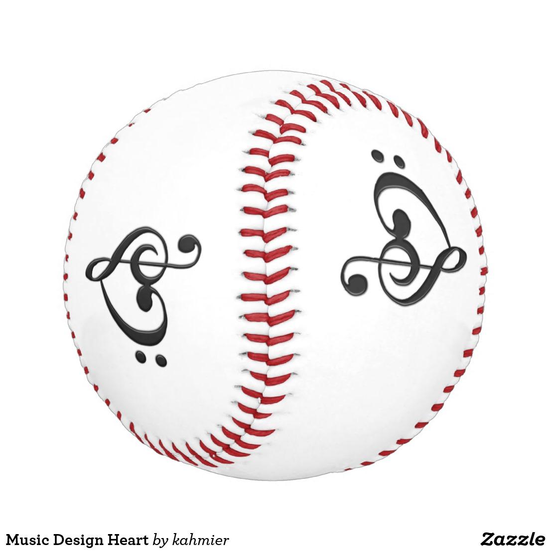 Music Design Heart Baseball