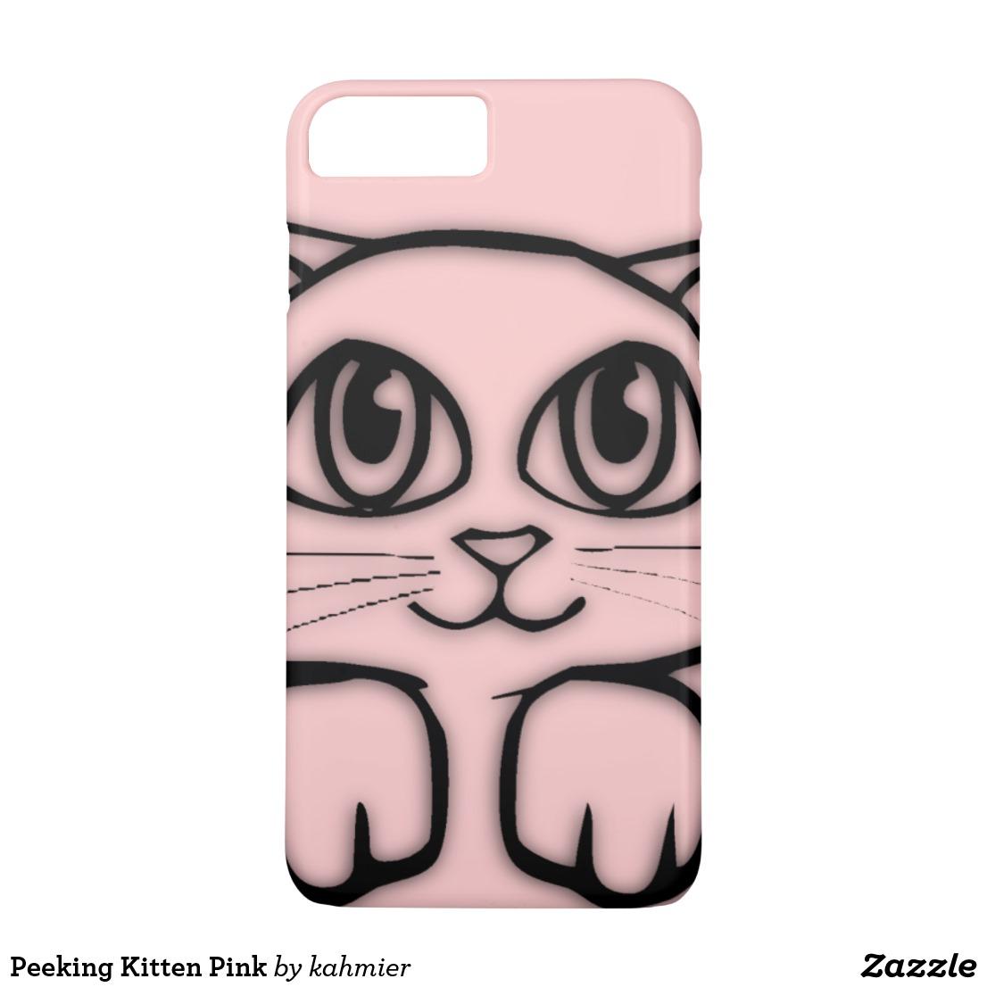 Peeking Kitten Pink iPhone 8 Plus/7 Plus Case