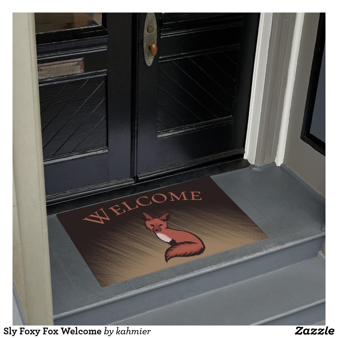 Sly Foxy Fox Welcome Doormat