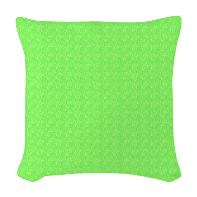 Throw Pillow Lime Green : Pretty lime Green Woven Throw Pillow Home