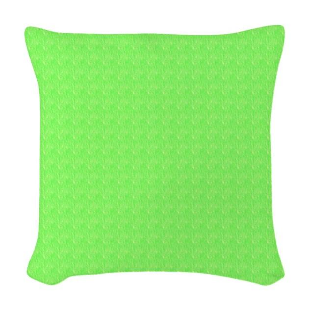 Pretty lime Green Woven Throw Pillow Home