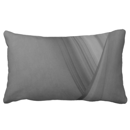 Subtle Charcoal Lumbar Pillow