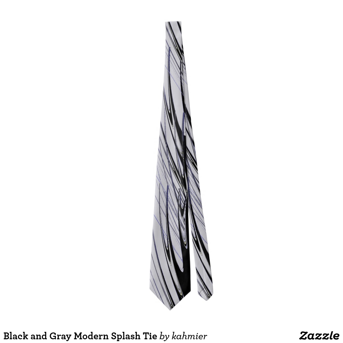 Black and Gray Modern Splash Tie