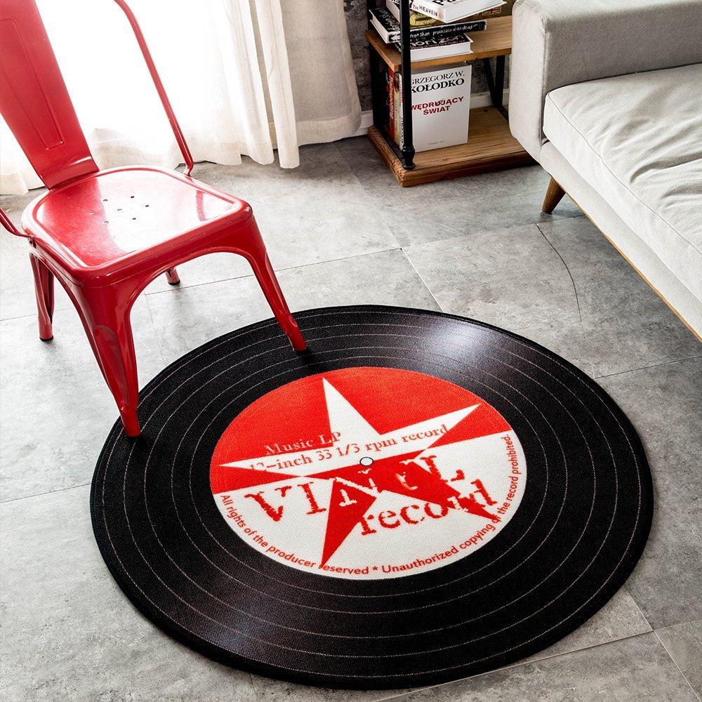 Rock Star Music Record Lp Vinyl Retro Black Non Slip