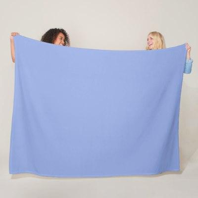 Solid Light Ultramarine Blue Fleece Blanket