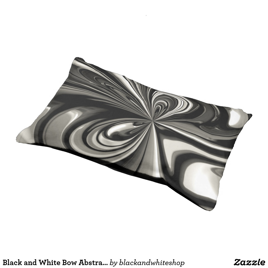 Black and White Bow Abstract Pet Bed