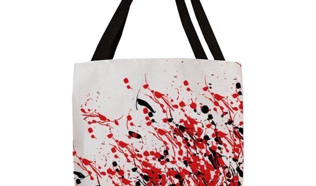 Drip & Splash Art Polyester Tote Bag