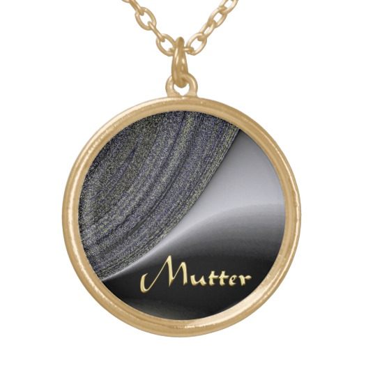 Mutter Abstract Black and Gold Design Necklace