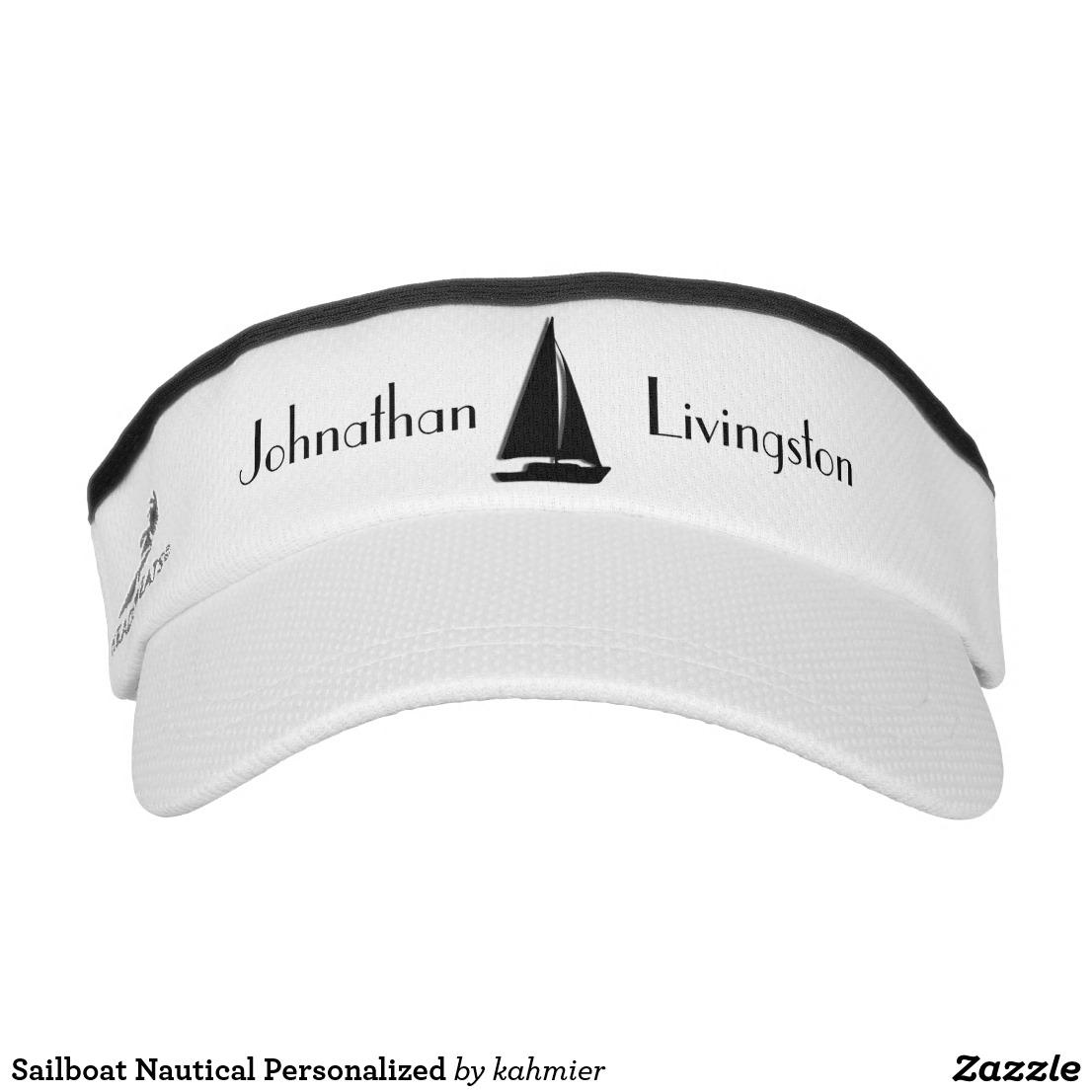 Sailboat Nautical Personalized Visor