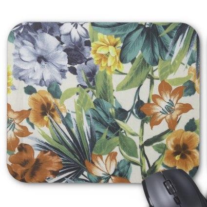 Autumn Colors Floral Mouse Pad