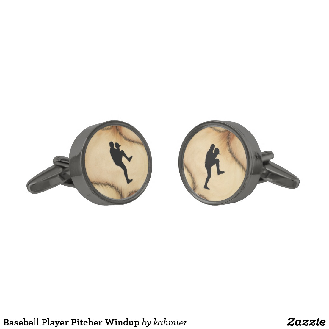 Baseball Player Pitcher Windup Cufflinks