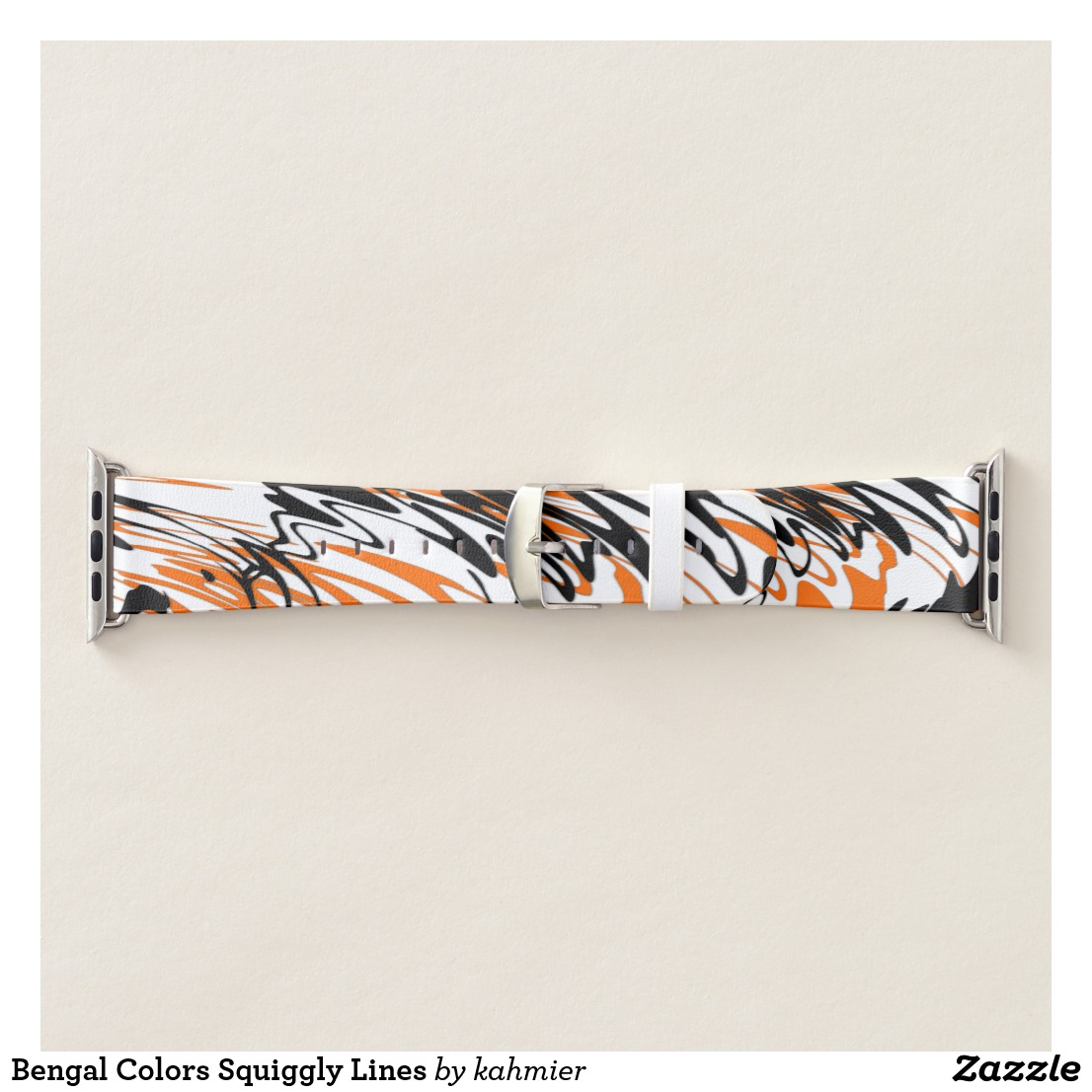 Bengal Colors Squiggly Lines Apple Watch Band