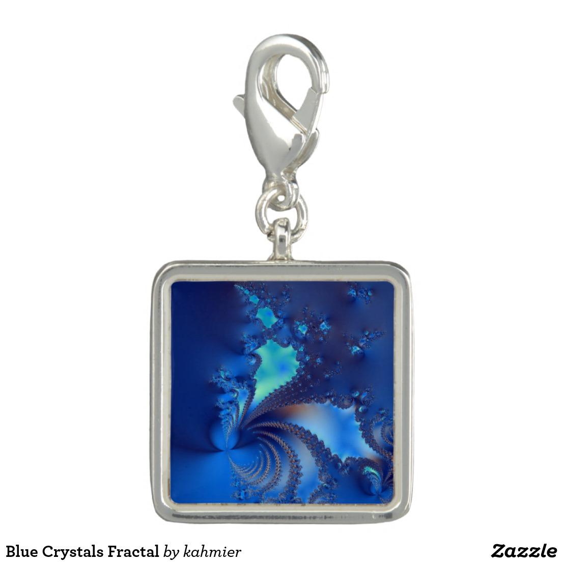 Blue Crystals Fractal Charm
