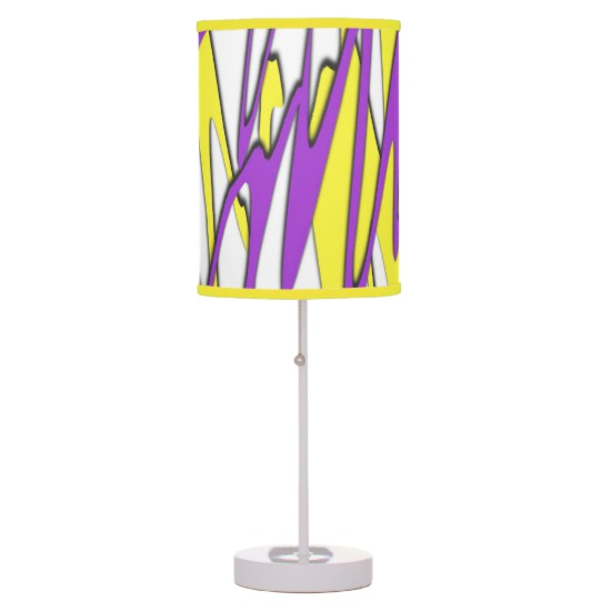 Squiggly Yellow and Purple Combo Desk Lamp