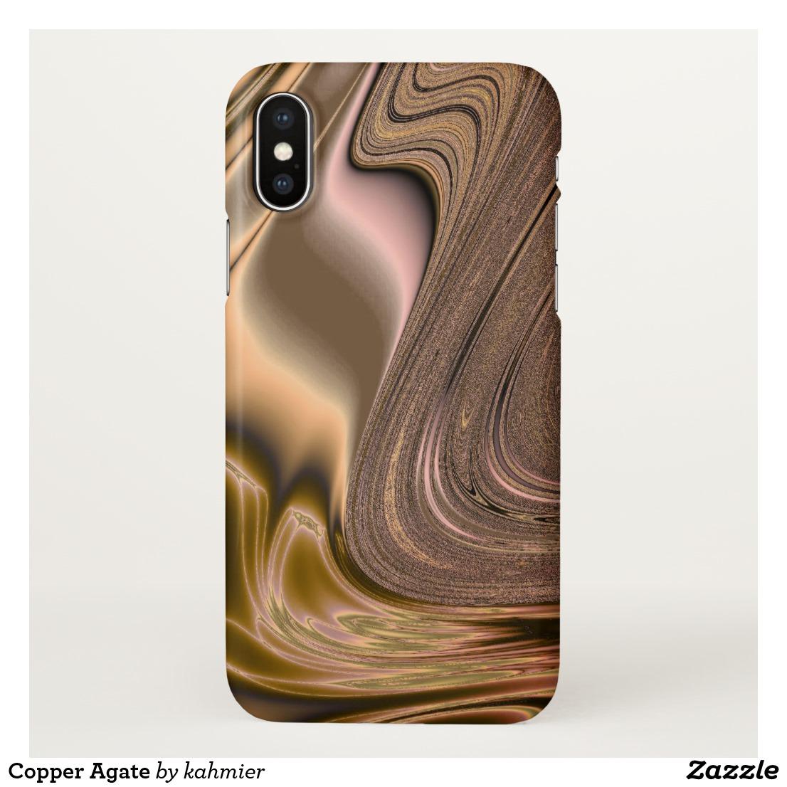 Copper Agate iPhone X Case