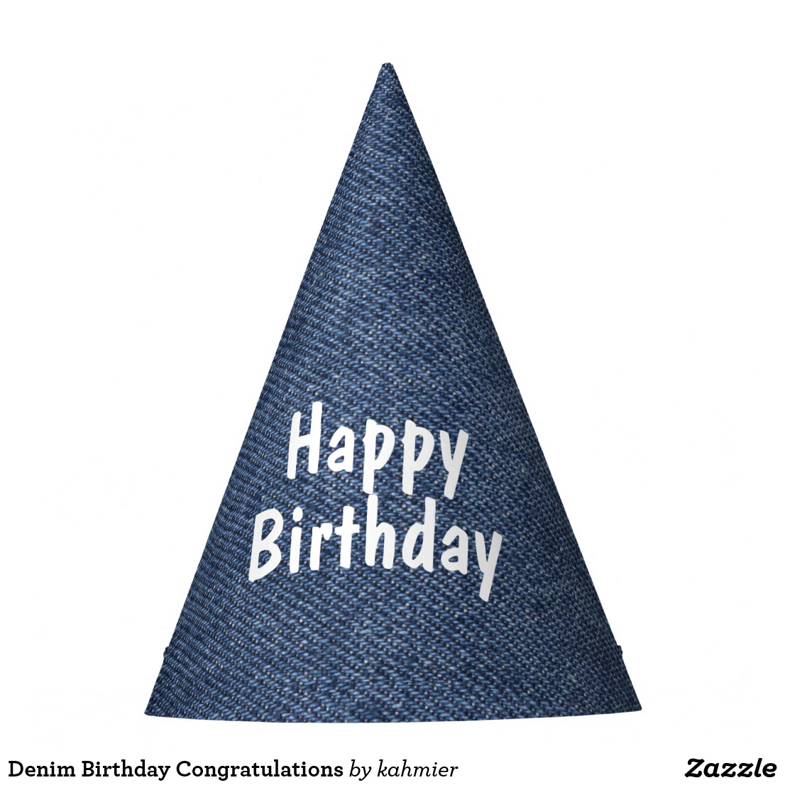 Denim Birthday Congratulations Party Hat