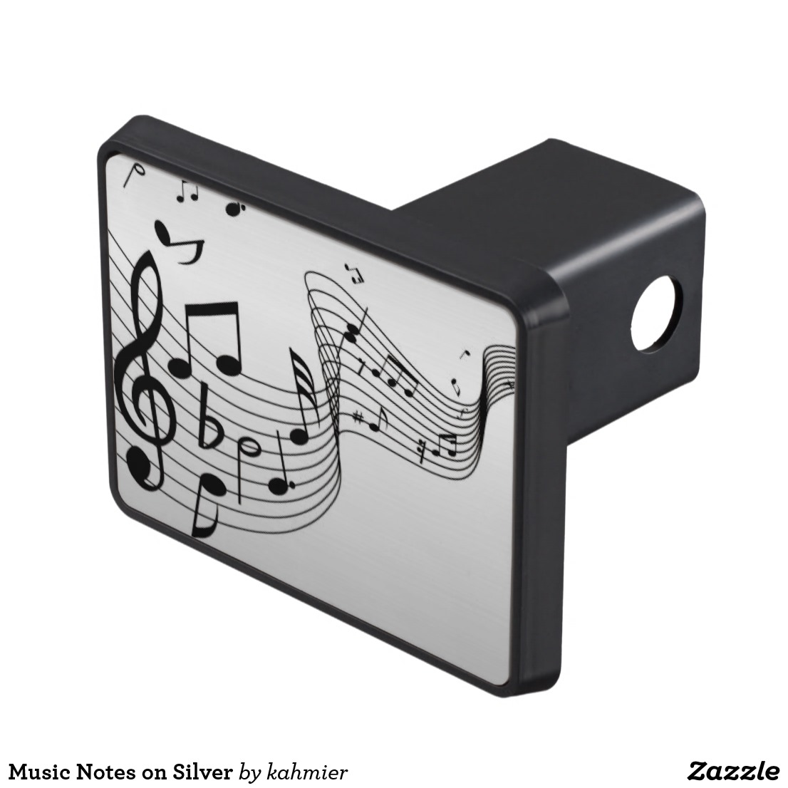 Music Notes on Silver Hitch Cover