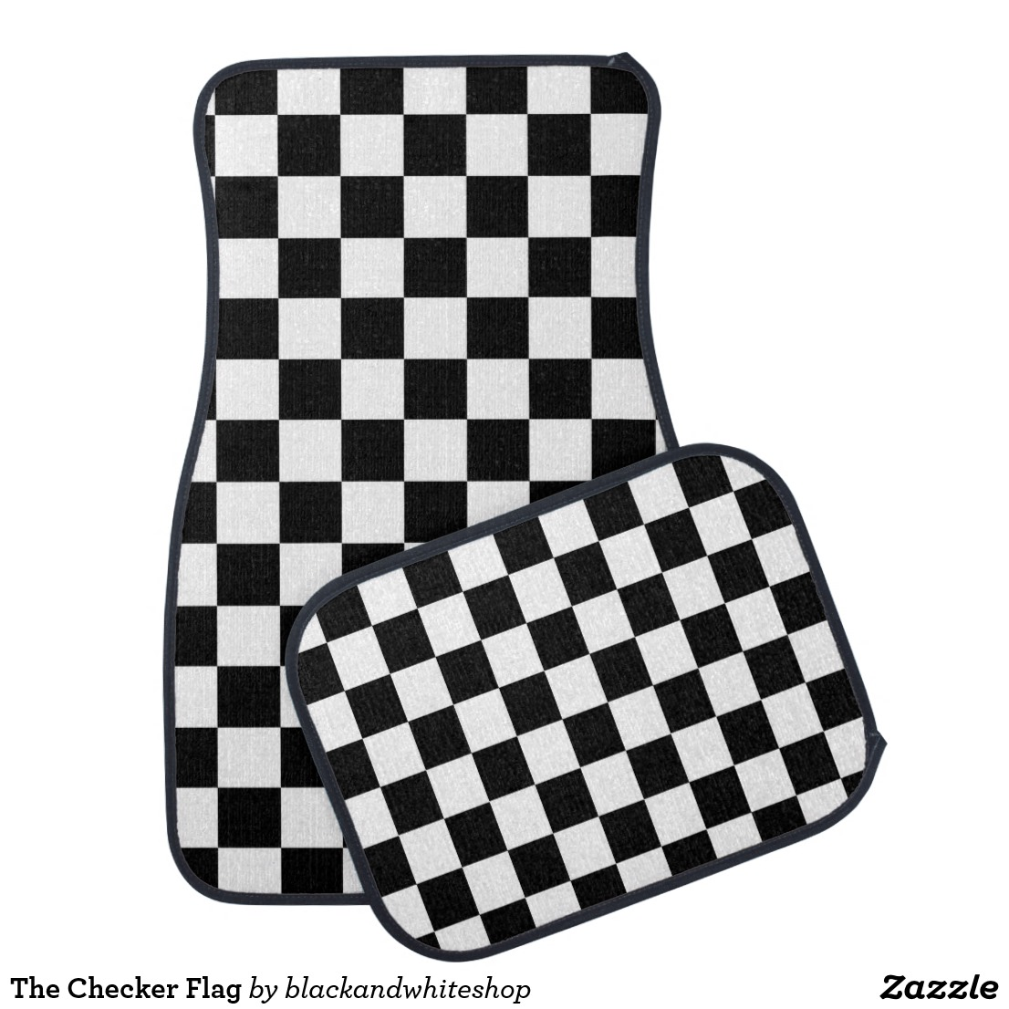 The Checker Flag Car Mat