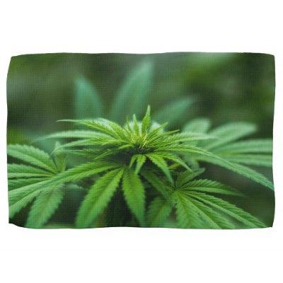 Marijuana Hand Towel