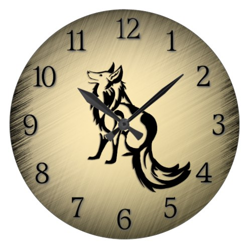 The Fox Large Clock