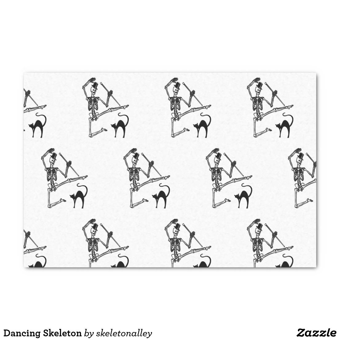 Dancing Skeleton Tissue Paper