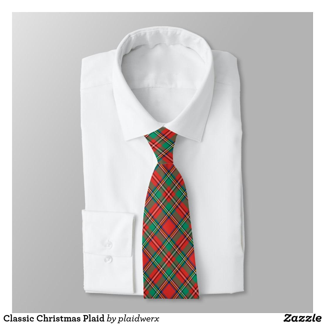 Classic Christmas Plaid Neck Tie