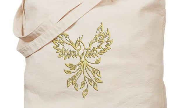 Golden Phoenix Tote Bag on CafePress.com