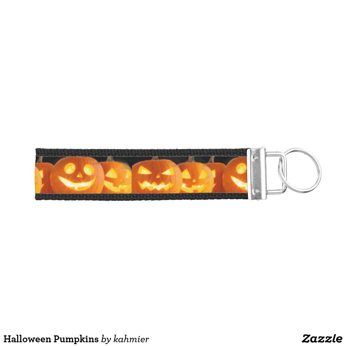 Halloween Pumpkins Wrist Keychain