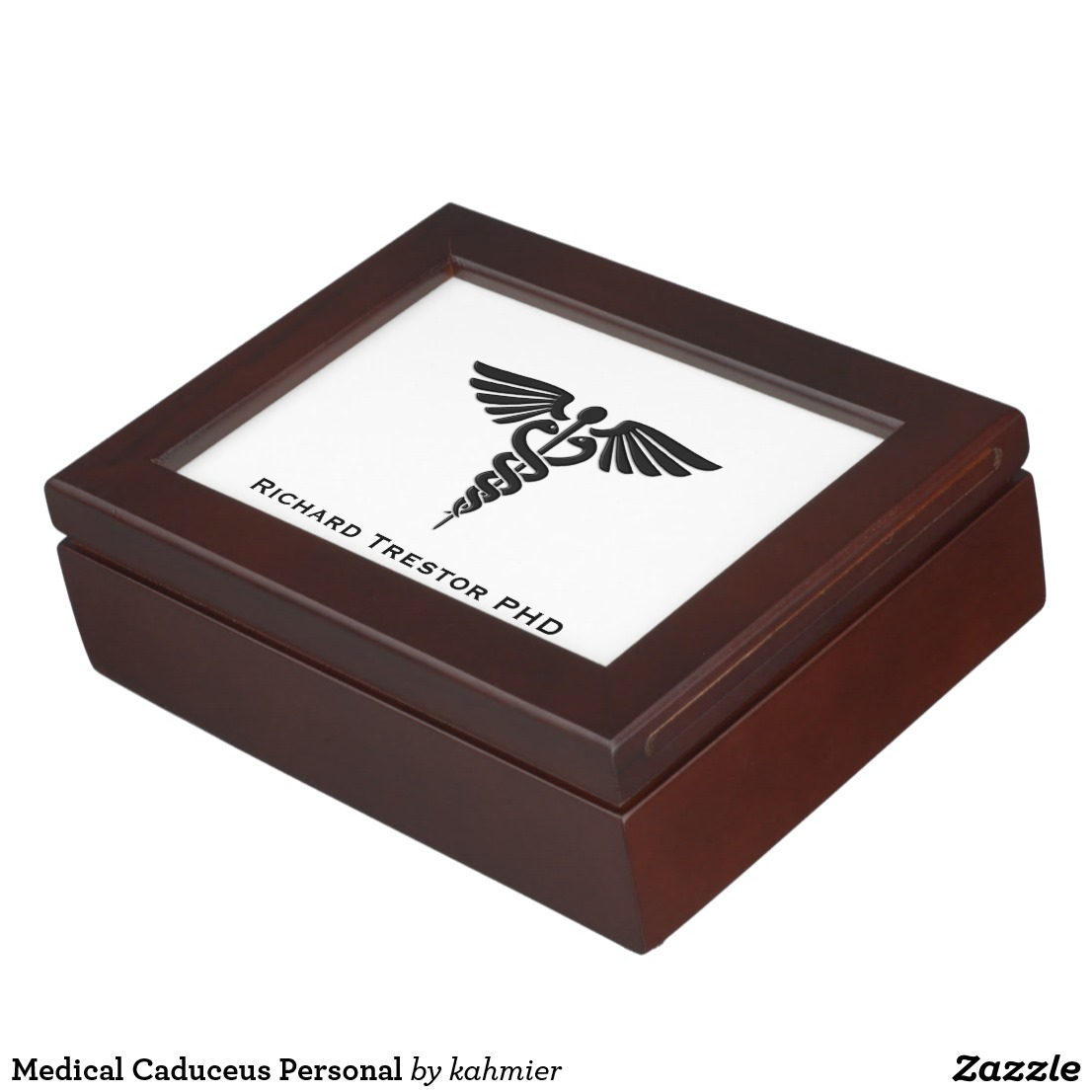 Medical Caduceus Personal Keepsake Box