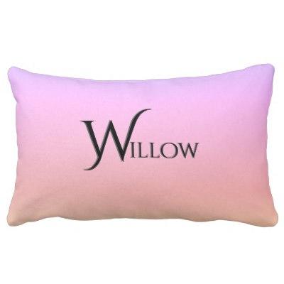 Rainbow Ombre Lumbar Pillow