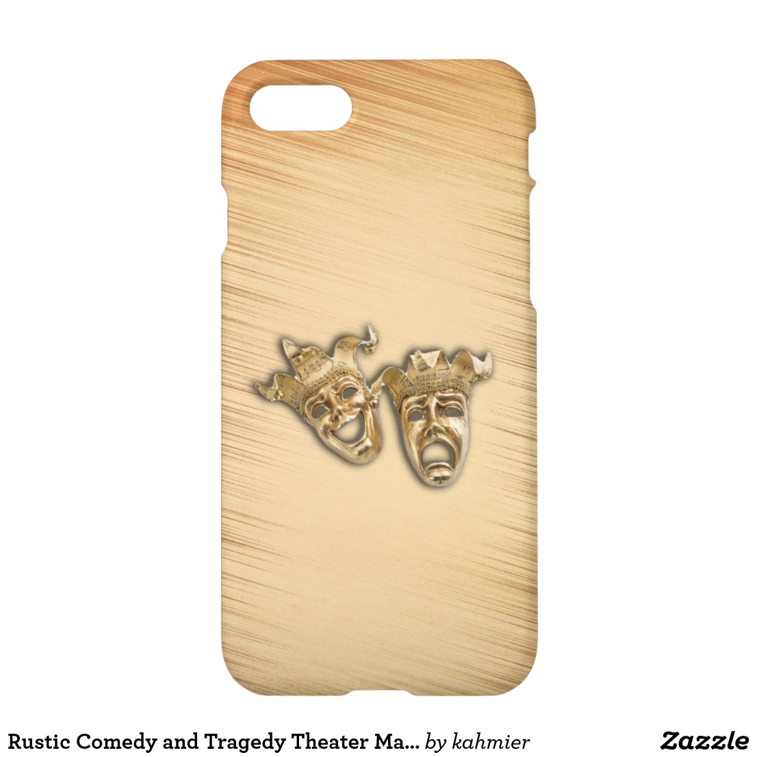 Rustic Comedy and Tragedy Theater Masks iPhone 8/7 Case