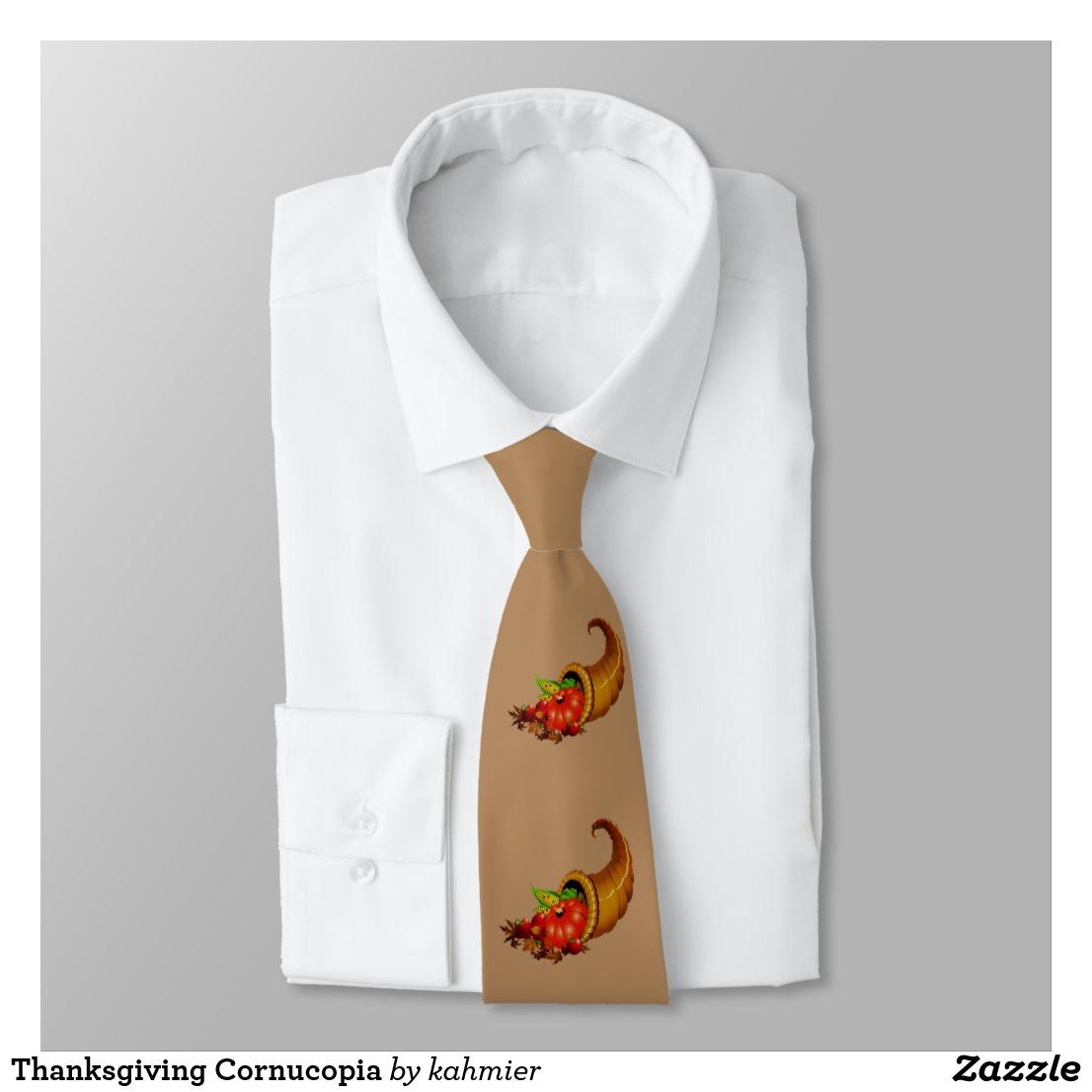 Thanksgiving Cornucopia Neck Tie