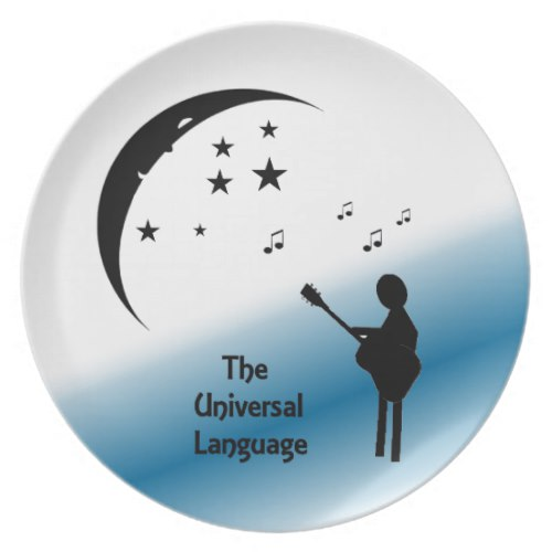 The Universal Language Music Dinner Plate